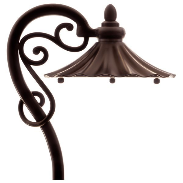 VOLT Elegant Harp Path & Area Light Aluminum Bronze Finish